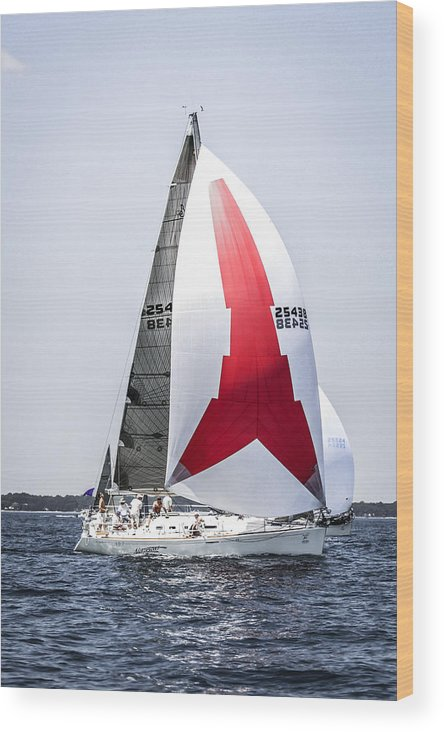 Sailboat Wood Print featuring the photograph Summer Sailing by Chris Smith