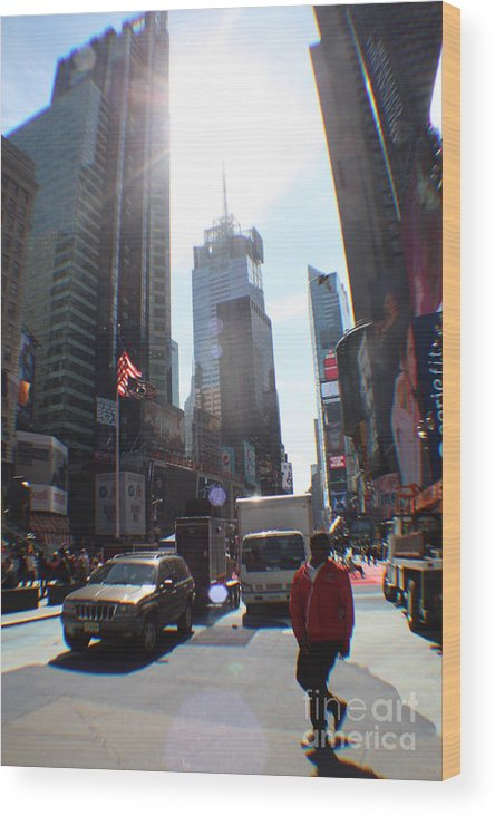 Rogerio Mariani Wood Print featuring the photograph Sunny Days Manhattan by Rogerio Mariani