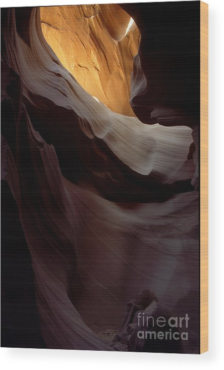 Slot Canyons Wood Print featuring the photograph Swopes by Kathy McClure