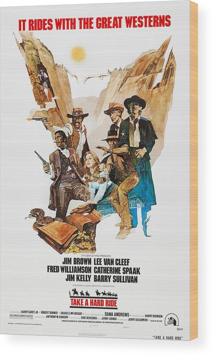 1970s Poster Art Wood Print featuring the photograph Take A Hard Ride, Us Poster, From Left by Everett