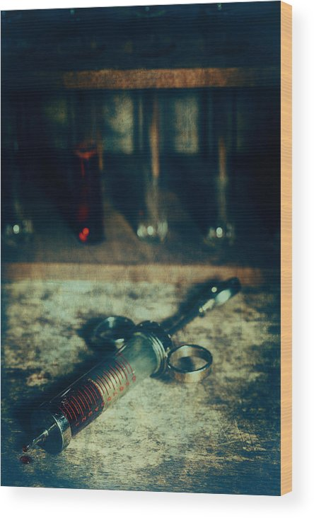 Syringe Wood Print featuring the photograph Take Your Medicine by Innershadows Photography