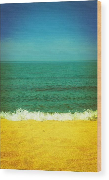 Lake Michigan Wood Print featuring the photograph Teal Waters by Michelle Calkins