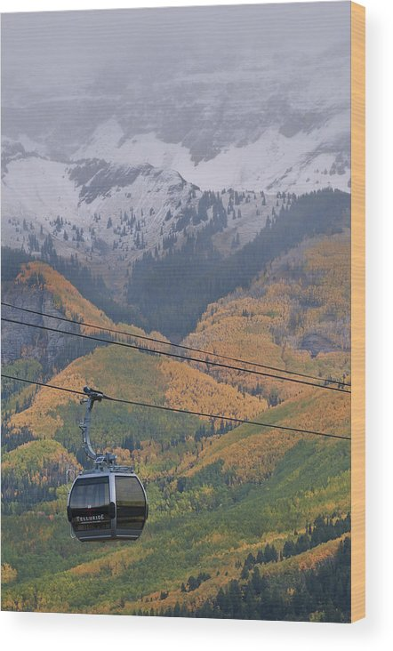 All Rights Reserved Wood Print featuring the photograph Telluride Winter Over Fall by Mike Berenson
