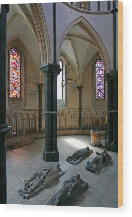 Templar Wood Print featuring the photograph Templar Knights Temple Church London by Mathew Lodge