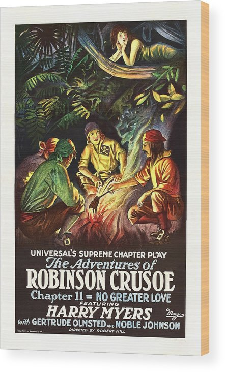 1920s Movies Wood Print featuring the photograph The Adventures Of Robinson Crusoe by Everett