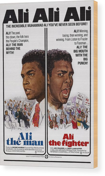 1970s Poster Art Wood Print featuring the photograph The Fighters, Aka Ali The Fighter, Aka by Everett
