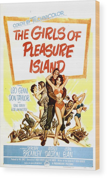 1950s Poster Art Wood Print featuring the photograph The Girls Of Pleasure Island, Us by Everett