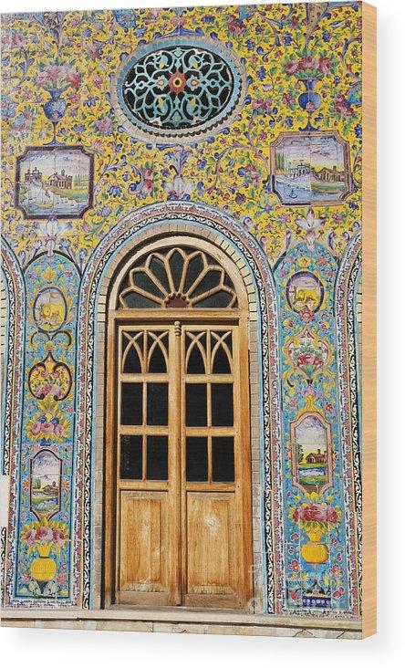 Iran Wood Print featuring the photograph The Golestan Palace In Tehran Iran by Robert Preston