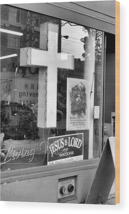 Store Front Wood Print featuring the photograph The Jesus Store by Douglas Pike