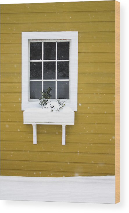 Wood Print featuring the photograph The Little Window by Lisa McLean Adams