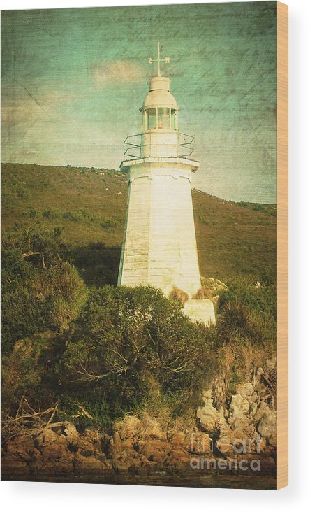 Vintage Wood Print featuring the photograph The Old Lighthouse by Phill Petrovic