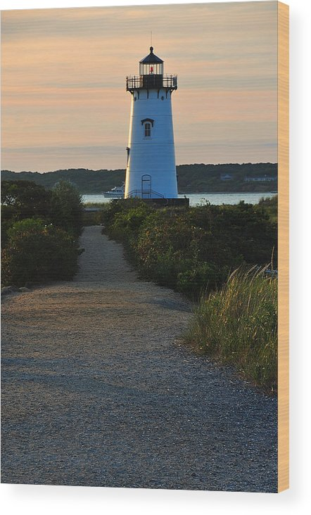 Lighthouse Wood Print featuring the photograph The Path To The Lighthouse by David Champigny