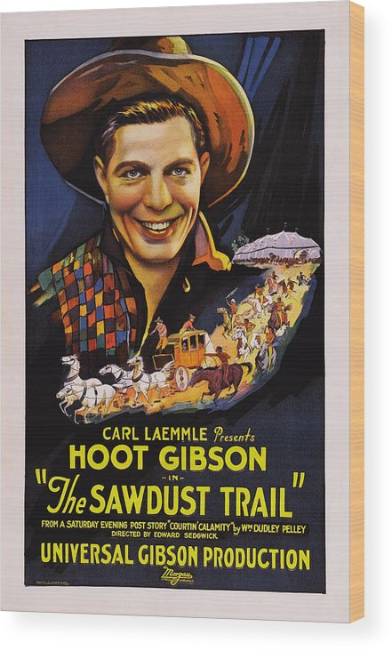 1920s Movies Wood Print featuring the photograph The Sawdust Trail, Aka Sawdust Trail by Everett