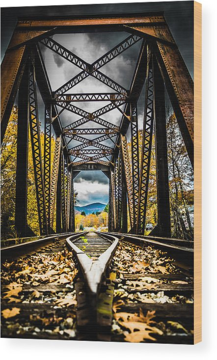 Railroad Wood Print featuring the photograph The Trestle by Jeffrey Stolzberg