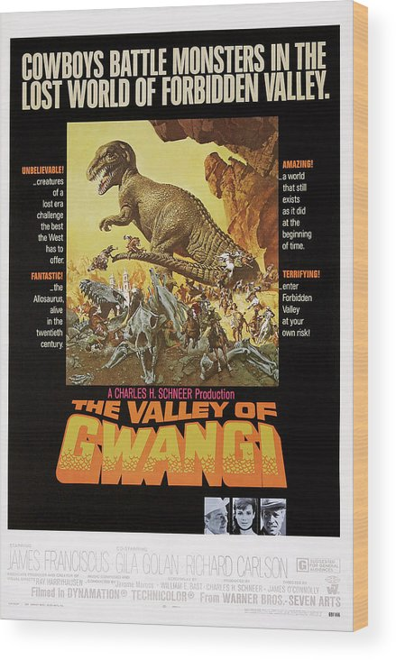 1960s Movies Wood Print featuring the photograph The Valley Of Gwangi, Us Poster Art by Everett
