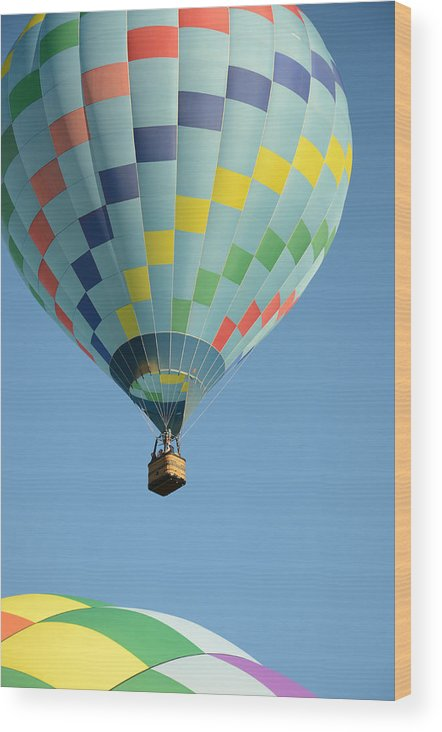 Hot Air Balloons Photographs Wood Print featuring the photograph This Is So Nice by Ricardo Dominguez