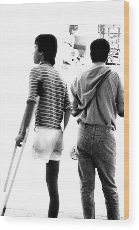 1980s Wood Print featuring the photograph Three Legs by Jagdish Agarwal