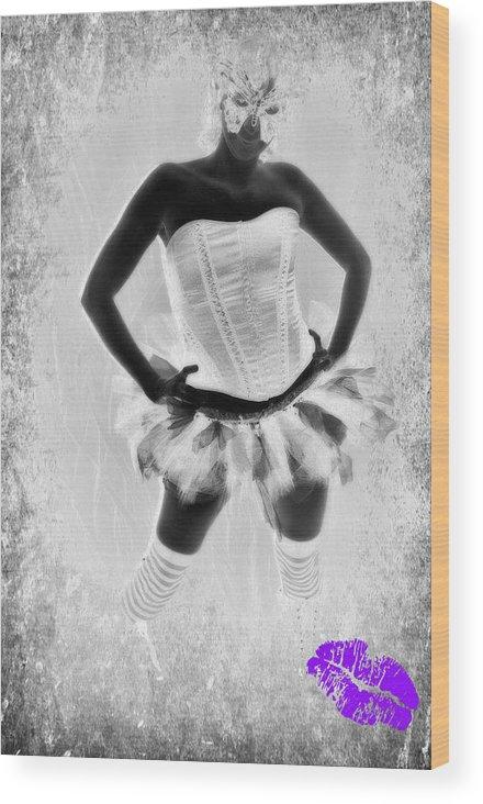 Tutu Wood Print featuring the photograph Tutu Attitude by Amanda Eberly-Kudamik