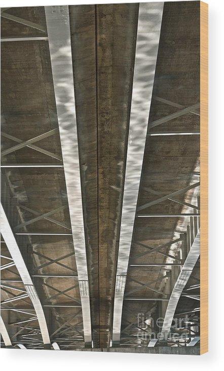 Bridge Wood Print featuring the photograph Under Overpass by Jason Layden