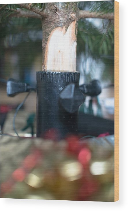 Christmas Wood Print featuring the photograph Under The Christmas Tree by Frank Gaertner