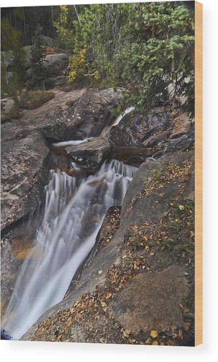 Chasm Falls Wood Print featuring the photograph Uppre Chasm Falls by Frank Burhenn
