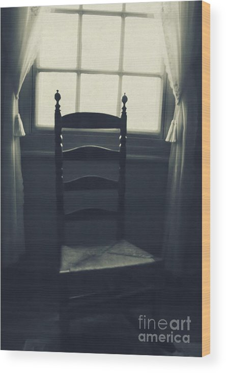 Chair Wood Print featuring the photograph Vintage Rock by Margie Hurwich