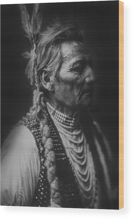 1905 Wood Print featuring the photograph Walla Walla Indian Circa 1905 by Aged Pixel