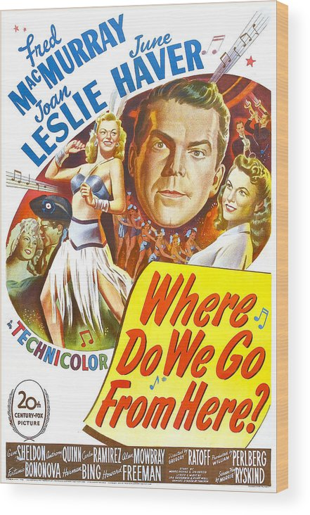 1940s Poster Art Wood Print featuring the photograph Where Do We Go From Here, Us Poster by Everett