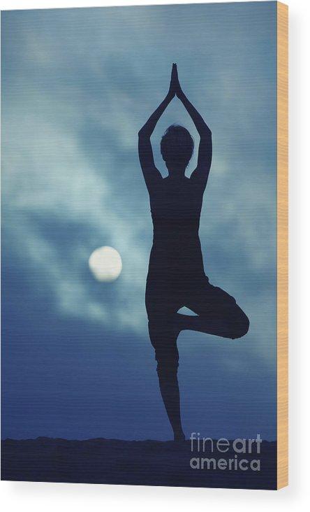 Yoga Wood Print featuring the photograph Yoga Balance by Konstantin Sutyagin