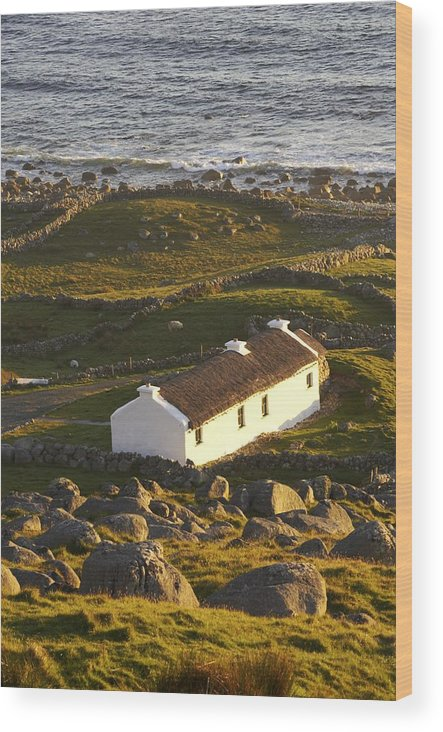 Agriculture Wood Print featuring the photograph Bunbeg, County Donegal, Ireland Sunset by Peter McCabe