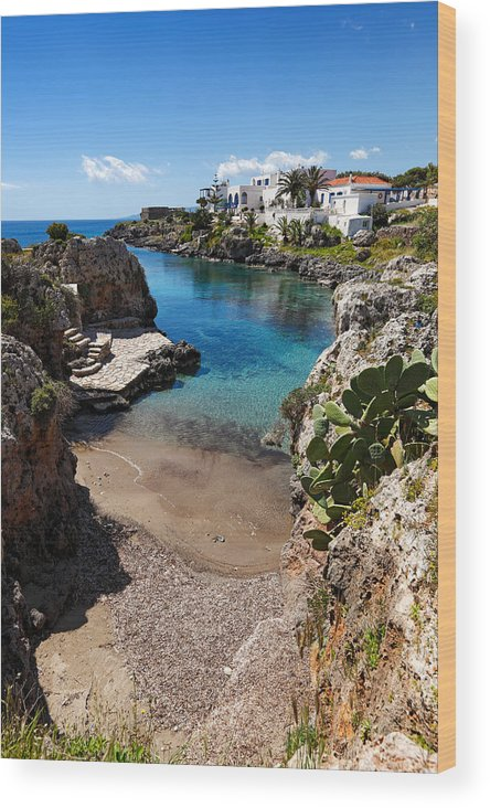 Architecture Wood Print featuring the photograph Kythera - Greece by Constantinos Iliopoulos