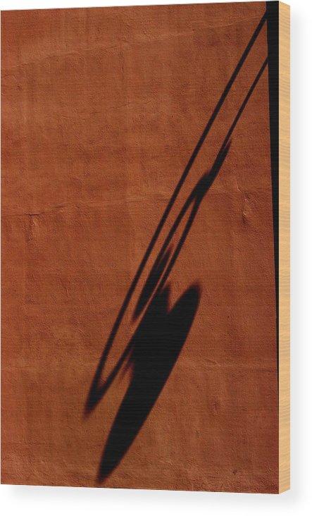 Burnt Orange Wood Print featuring the photograph Light by Joseph Yarbrough