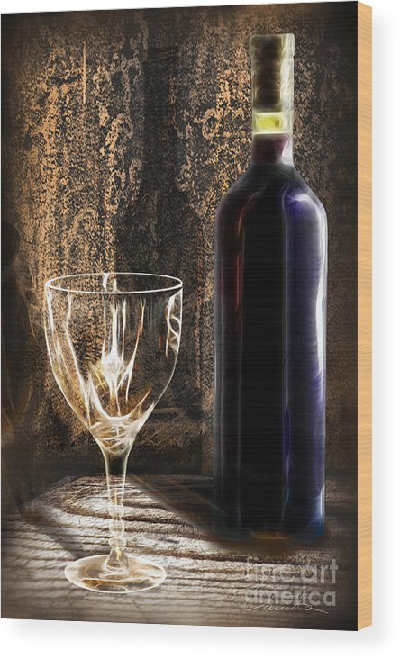 Beverage Wood Print featuring the photograph Ready To Be Served by Danuta Bennett