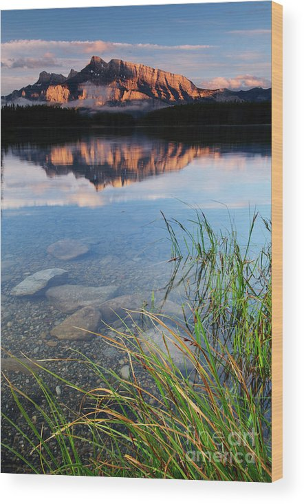 Alberta Wood Print featuring the photograph Two Jack Lake by Ginevre Smith