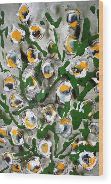 Flowers Wood Print featuring the painting Divineflowers by Baljit Chadha