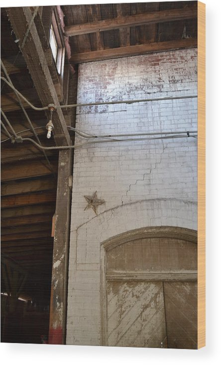 Architecture Wood Print featuring the photograph A Star Is Born by Tiffany Ball-Zerges