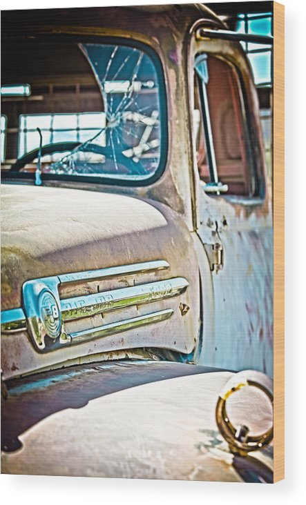 Truck Wood Print featuring the photograph Abandoned Red Truck by Michael Yeager