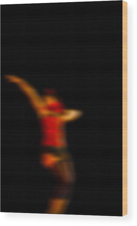 Dance Wood Print featuring the digital art Abstract Woman Dancing Tango by Joel Vieira