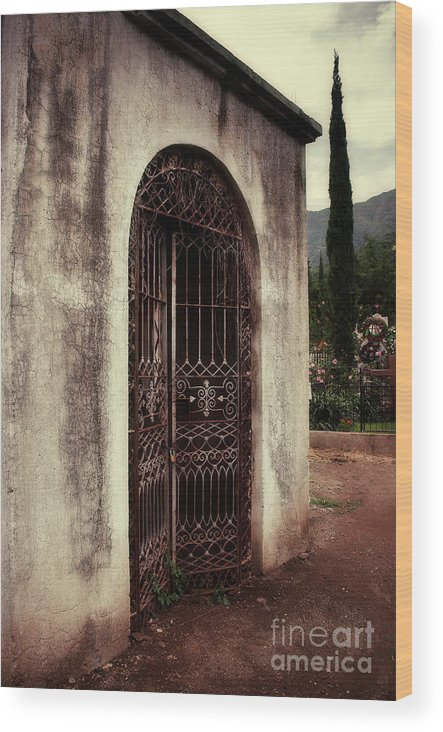 Doorway Wood Print featuring the photograph Ajijic Cemetary Crypt by Susan Isakson
