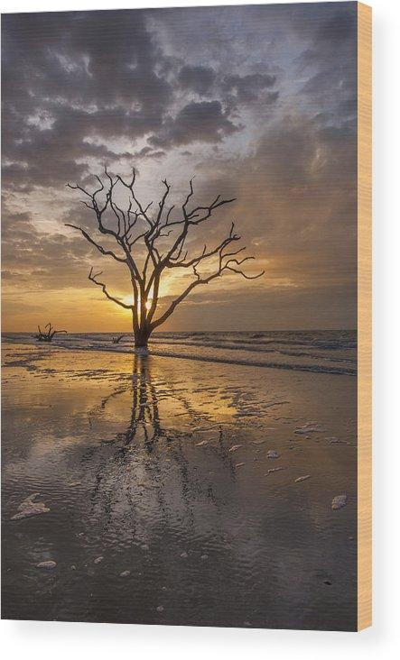 Botany Bay Wood Print featuring the photograph Boneyard Sunrise by Joseph Rossbach
