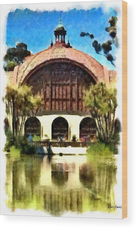 Balboa Park Wood Print featuring the photograph Botanical Gardens Watercolor by Russ Harris