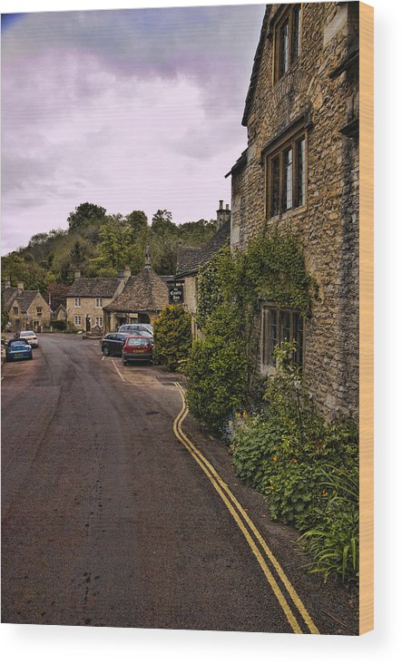 Castle Combe Wood Print featuring the photograph Castle Combe by Jon Berghoff