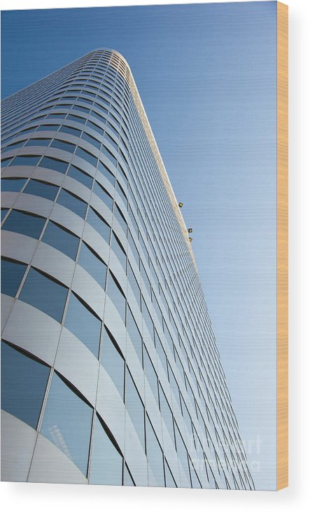 Chase Wood Print featuring the photograph Chase Bank Building Denver Colorado by Andre Babiak