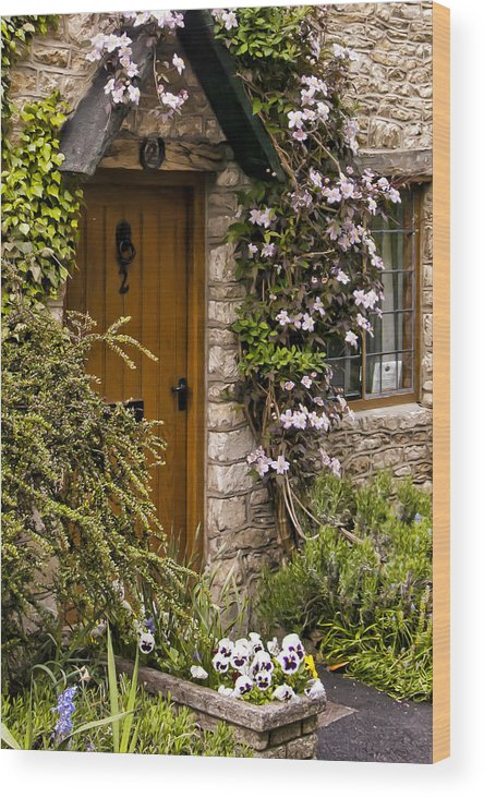 Castle Combe Wood Print featuring the photograph Cottage At Castle Combe by Jon Berghoff
