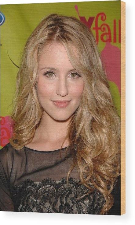 Dianna Agron Wood Print featuring the photograph Dianna Agron At Arrivals For Fox Fall by Everett