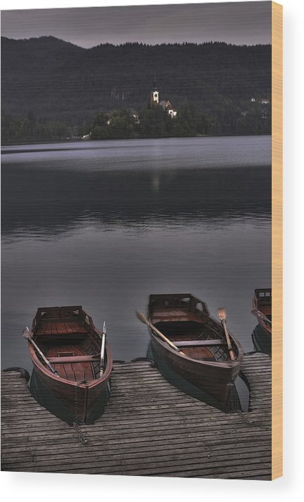 Boats Wood Print featuring the photograph Docked Boats by Don Wolf