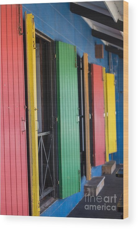 Bvi Wood Print featuring the photograph Doors Of Colors by Rene Triay Photography