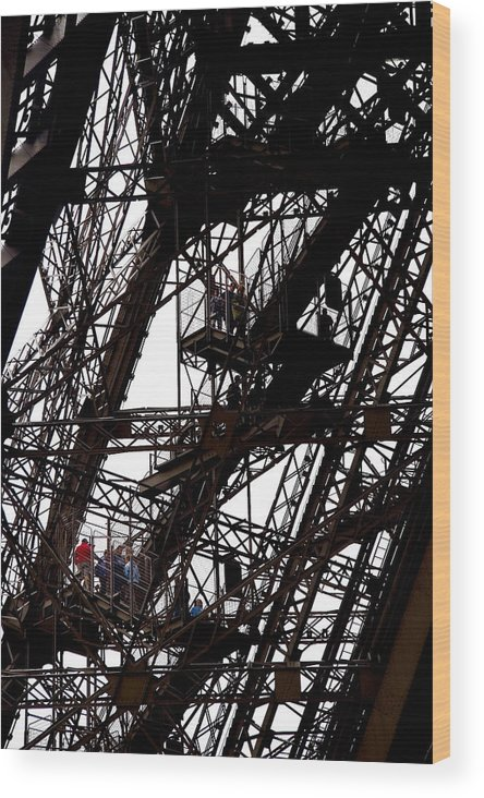 Eiffel Tower Wood Print featuring the photograph Eiffel Tower by Philip Timmins