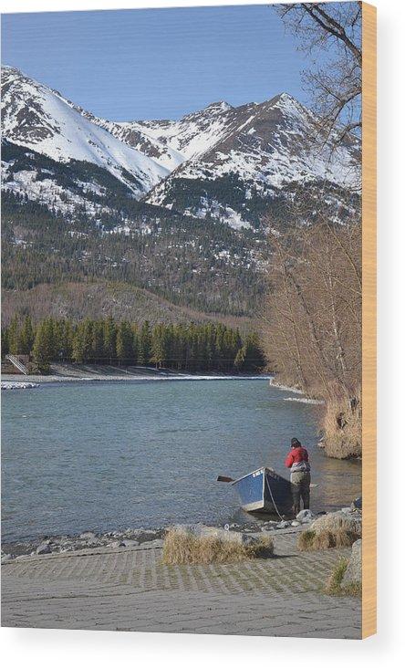 Fishing Wood Print featuring the photograph Fishing Day by Jennifer Zirpoli