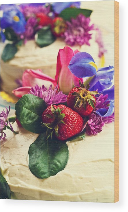 Cake Wood Print featuring the photograph Floral Cake by Alexis Stockton